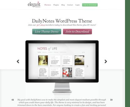 Elegant Themes: DailyNotes WordPress Theme
