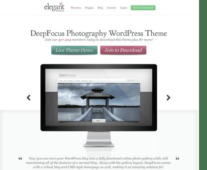Elegant Themes: DeepFocus WordPress Theme