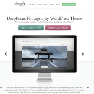 Elegant Themes: DeepFocus WordPress Theme