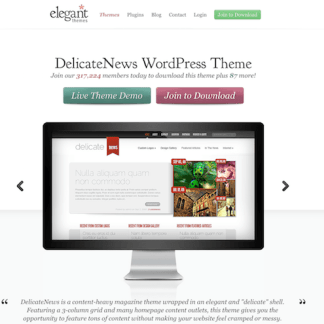 Elegant Themes: DelicateNews WordPress Theme