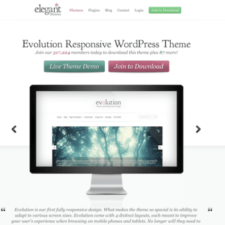Elegant Themes: Evolution WordPress Theme