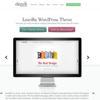 Elegant Themes: Lean Biz WordPress Theme