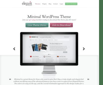 Elegant Themes: Minimal WordPress Theme