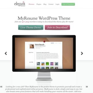 Elegant Themes: MyResume WordPress Theme