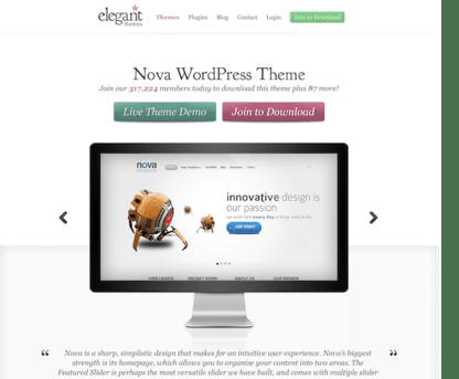 Elegant Themes: Nova WordPress Theme