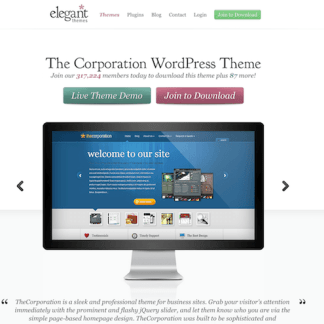 Elegant Themes: The Corporation WordPress Theme
