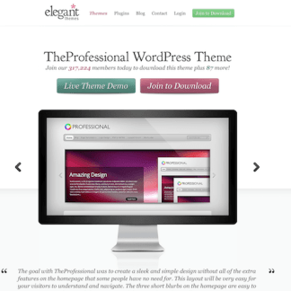Elegant Themes: The Professional WordPress Theme