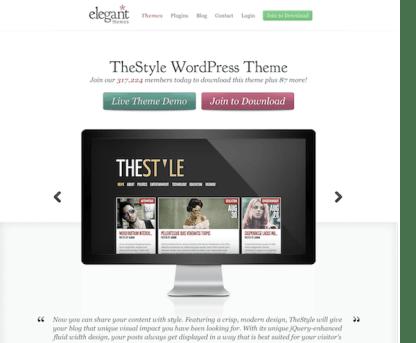 Elegant Themes: The Style WordPress Theme