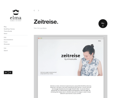 Elmastudio: Zeitreise WordPress Theme