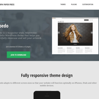 Graph Paper Press: Albedo WordPress Theme