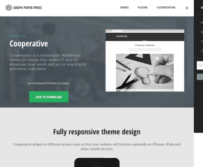 Graph Paper Press: Cooperative WordPress Theme