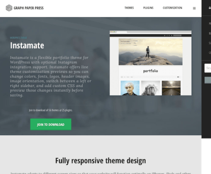 Graph Paper Press: Instamate WordPress Theme