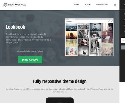 Graph Paper Press: Lookbook WordPress Theme