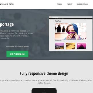 Graph Paper Press: Reportage WordPress Theme