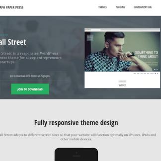 Graph Paper Press: Wall Street WordPress Theme