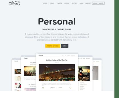 OboxThemes: Personal WordPress Theme