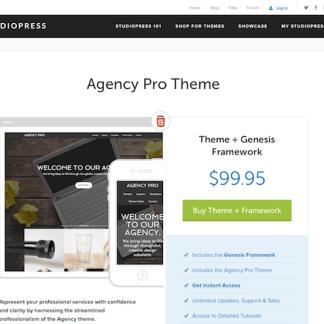 StudioPress: Agency Pro Theme