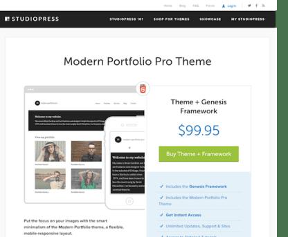 StudioPress: Modern Portfolio Pro Theme