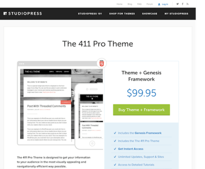 StudioPress: The 411 Pro Theme