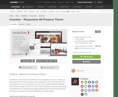 Themeforest: Incentive