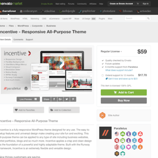 Themeforest: Incentive