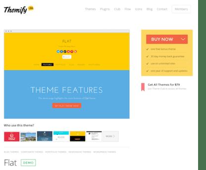 Themify: Flat WordPress Theme