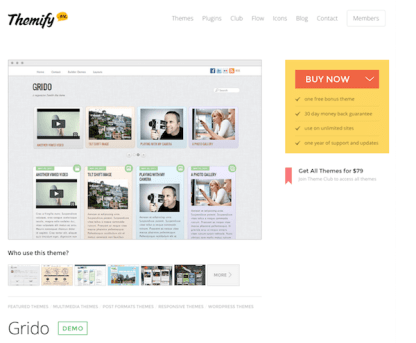 Themify: Grido WordPress Theme