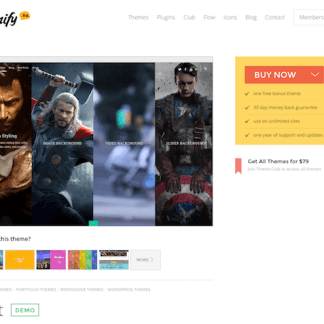 Themify: Split WordPress Theme