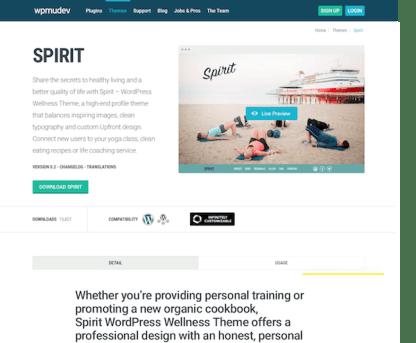 WPMU DEV: Spirit WordPress Theme