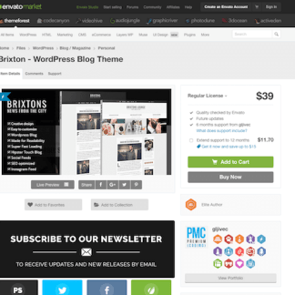 Themeforest: Brixton