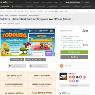 Themeforest: Toddlers