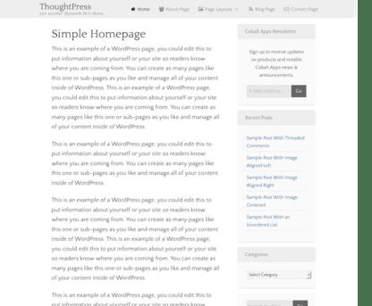 CobaltApps: Dynamik Skin ThoughtPress