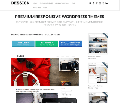 Dessign: Blogg Responsive