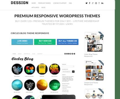 Dessign: Circles Blog Responsive