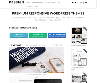 Dessign: One Page Responsive