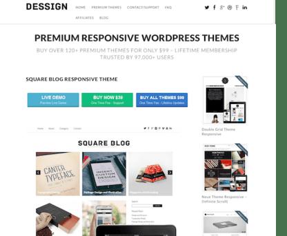 Dessign: Square Blog Responsive