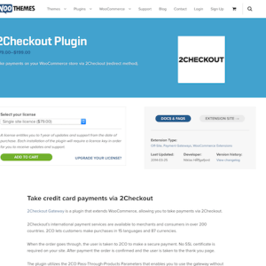 Extensión para WooCommerce: 2Checkout Plugin