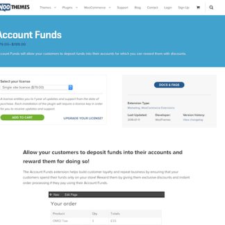Extensión para WooCommerce: Account Funds