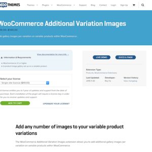 Extensión para WooCommerce: Additional Variation Images