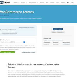 Extensión para WooCommerce: Aramex
