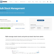 Extensión para WooCommerce: Bulk Stock Management