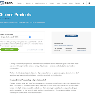Extensión para WooCommerce: Chained Products