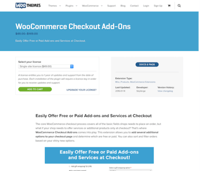 Extensión para WooCommerce: Checkout Add-Ons