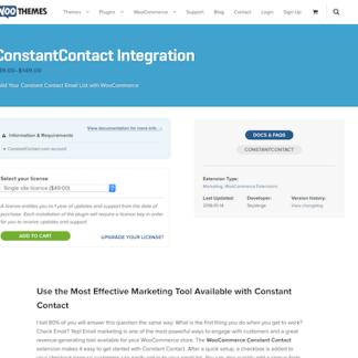 Extensión para WooCommerce: ConstantContact Integration