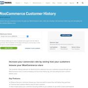 Extensión para WooCommerce: Customer History