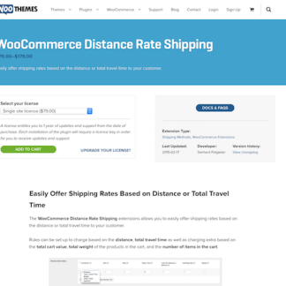 Extensión para WooCommerce: Distance Rate Shipping