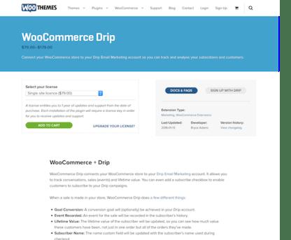 Extensión para WooCommerce: Drip