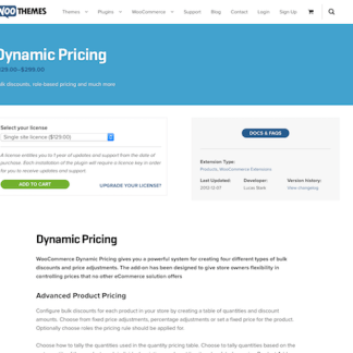 Extensión para WooCommerce: Dynamic Pricing