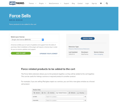 Extensión para WooCommerce: Force Sells