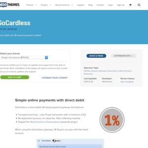 Extensión para WooCommerce: GoCardless Payment Gateway